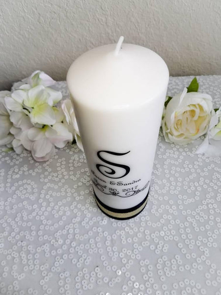 Great Gatsby Theme Personalized Unity Candle Set - ADR Decor