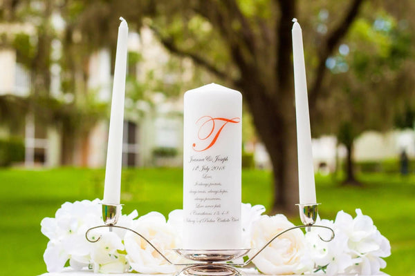 Personalized Unity Candle Set with Verse - ADR Decor