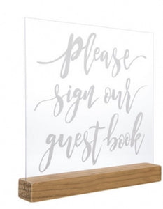 Please sign our guestbook wood sign rental - ADR Decor