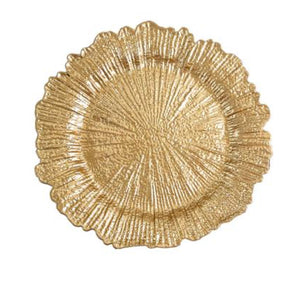 Gold Reef Charger Plates - ADR Decor