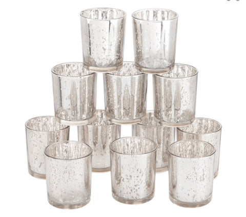 Silver votive candle holder rentals - ADR Decor
