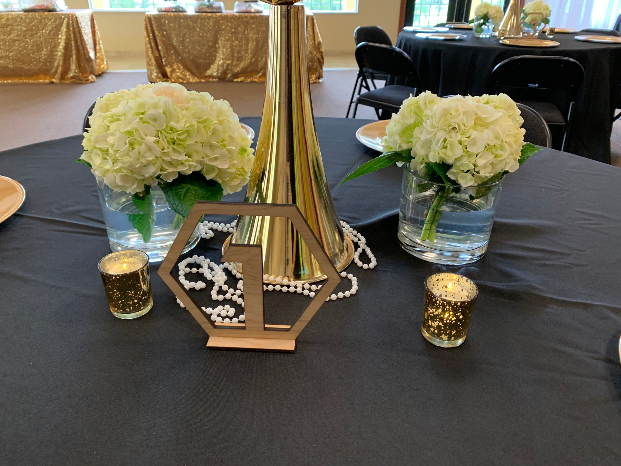 Geometric Table Number rental - ADR Decor