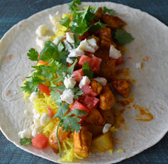 Chicken Madras Burritos