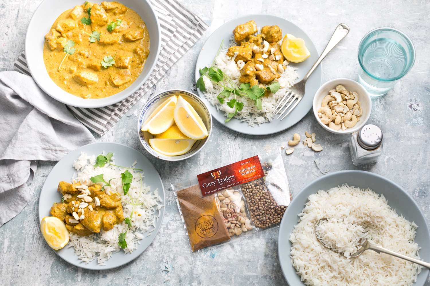 Cook Chicken Korma at home with easy kit