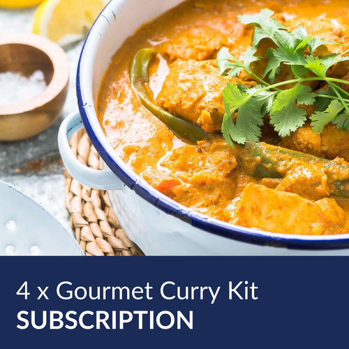4 Gourmet Curry Kit Subscription Per Order