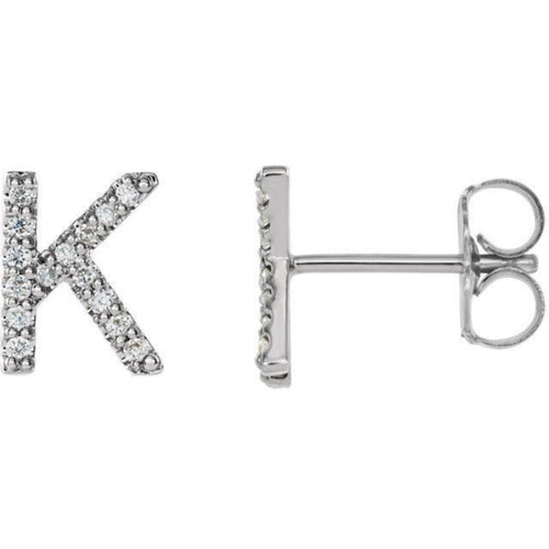 Diamond Studded Initial
