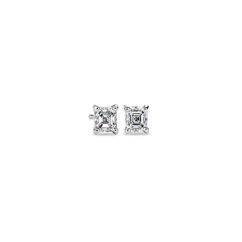 2ctw Asscher Cut Diamond Studs