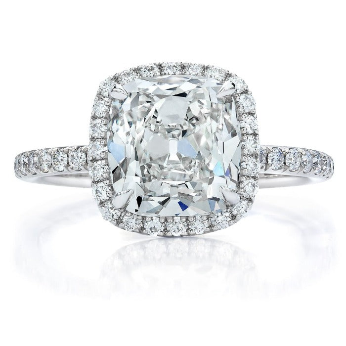 5.80ctw Cushion Halo Clarity Enhanced Diamond Engagement Ring