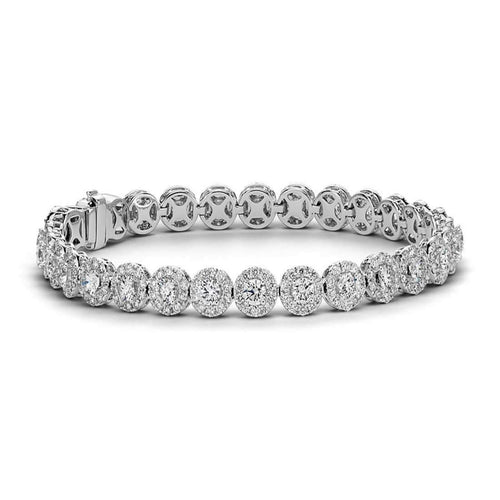 Baby Angel's Halo Diamond Tennis Bracelet