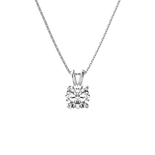 1ct diamond solitaire necklace
