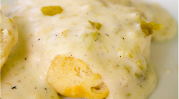 Green Chile and Sausage Gravy and Biscuits