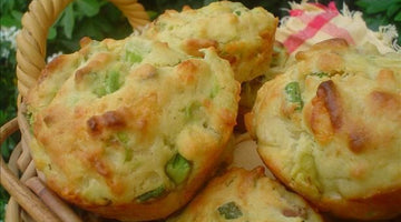 Cheesy New Mexico Green Chile Bacon Muffins