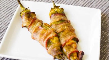 Cheese Stuffed, Bacon Wrapped Chile