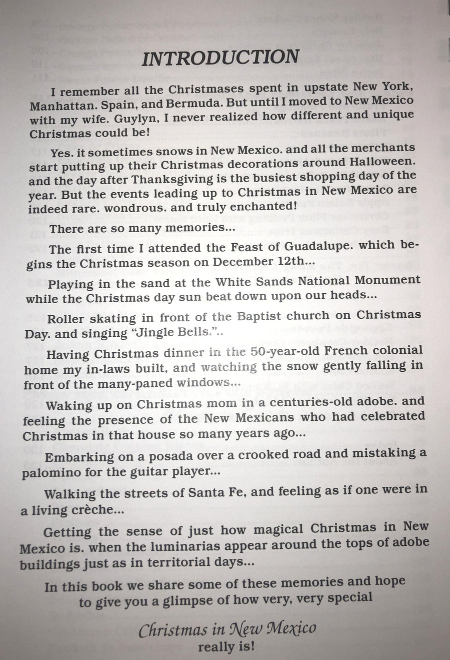 "cookbook ""Christmas In New Mexico"""