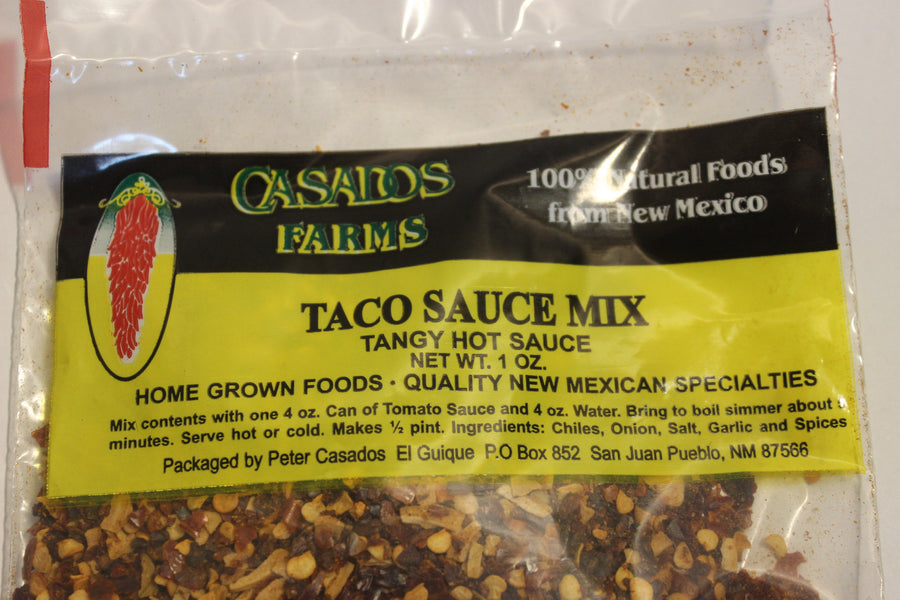 casados farms taco sauce mix 1 oz
