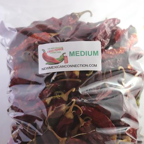 RED CHILE PODS -1 LBS Machine Dried