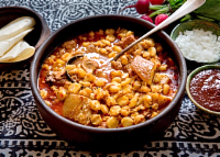 Posole From  Casados Farms New Mexico, 12 oz White or Blue