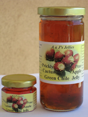 A & J's Prickly Pear Cactus Jellies 10 oz