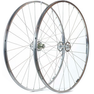 H Plus Son TB14 Wheels 28 Hole Polished With Craftworx High Flange Hubs