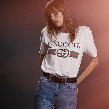 Classy Duds Short Sleeve T-Shirts Gnocchi Vintage White Tee