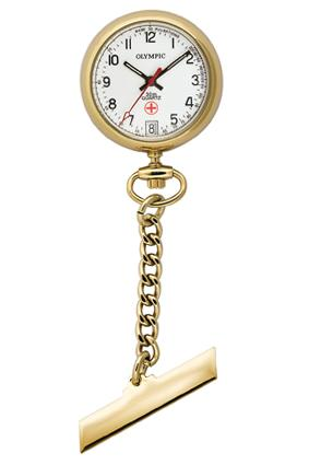 Gold Plated Nurse Watch