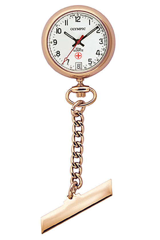 Rose Gold Plated Nurse Watch