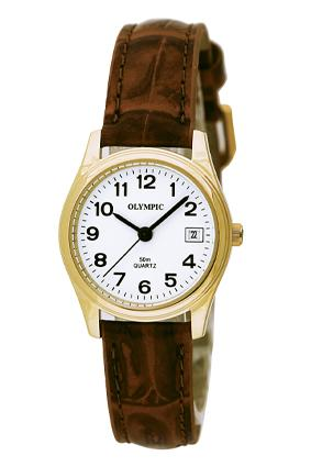 Ladies Leather - Gold - Brown