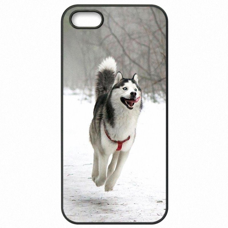 Plastic Phone Accessories For Galaxy S7 Edge G935T Animal Husky puppy Siberian Huskies Dogs World