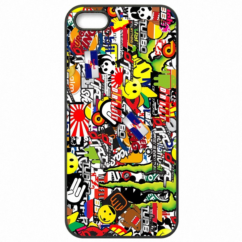 Hard Mobile Phone Cover Fundas For Moto Nexus 6 5.96 inch Bomb Stickers Motorcycle Bike JDM Car Graffiti Fashional