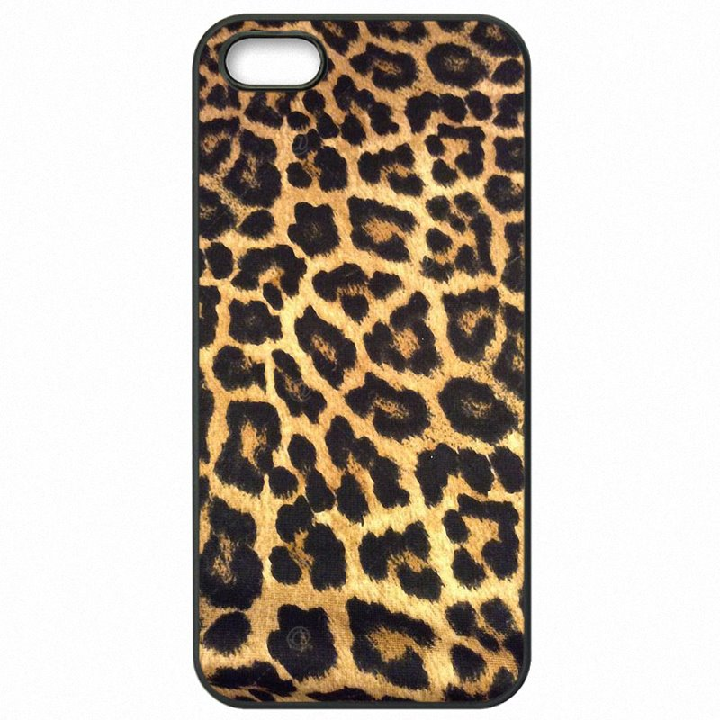 Hard Mobile Phone Bags Case For Samsung Case Brown Gold Yellow Pastel Leopard Animal Art Print For Galaxy S7 Edge G935A Choose