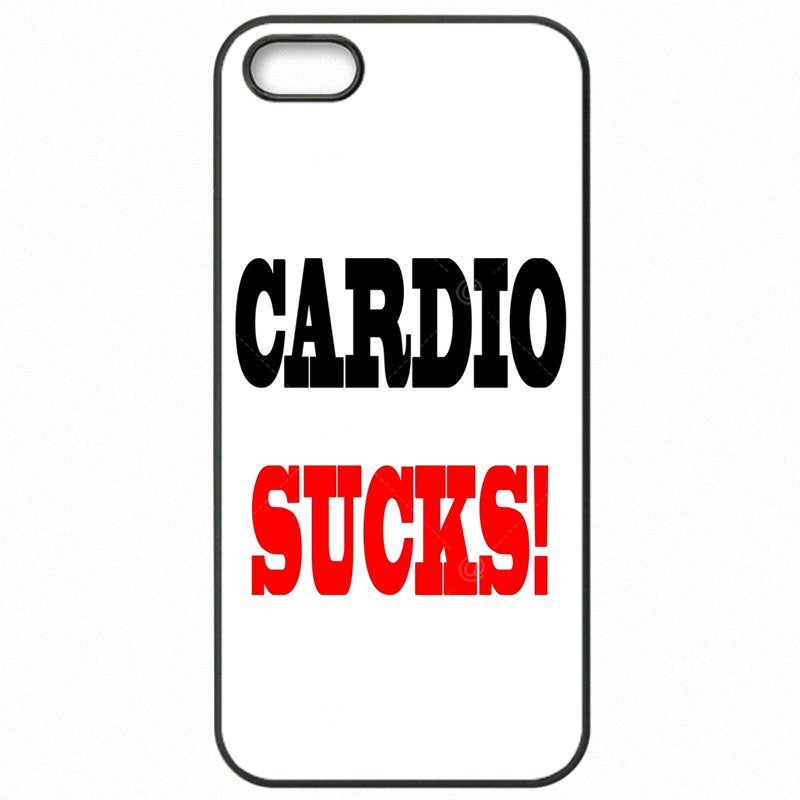 Stylish For Sony Xperia C3 S55U Cardio Sucks Gym Quote Art Print Mobile Phone Capa