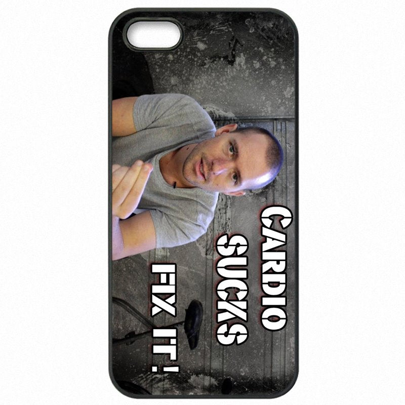 Plastic Phone Cover Fundas Cardio Sucks Gym Quote Art Print For Sony Xperia M2 D2305 Childrens