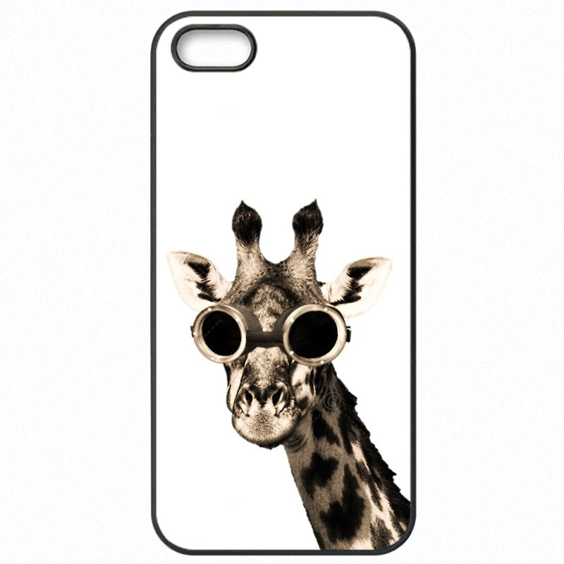 Hard Phone Capa Cartoons Sunglasses Giraffe spectacles Animal Art For Huawei Mate 7 Enfants