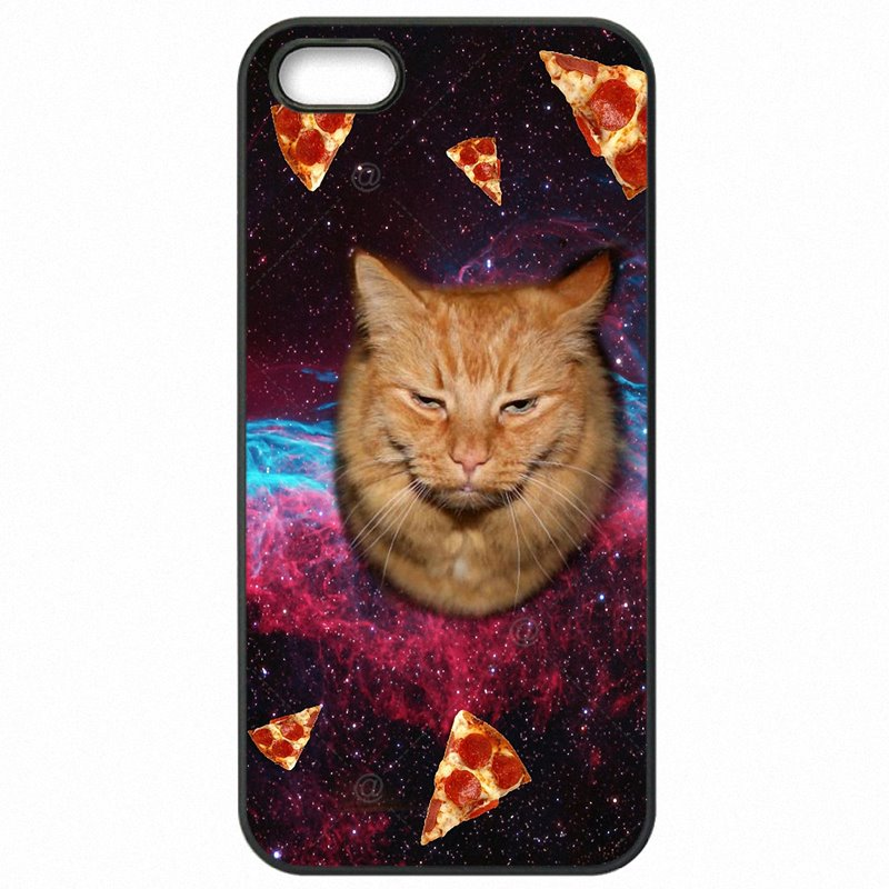 Hard Mobile Phone Cases Cover Cat eating Pizza design in Space Art For Sony Xperia XA F3113 Most Expensive