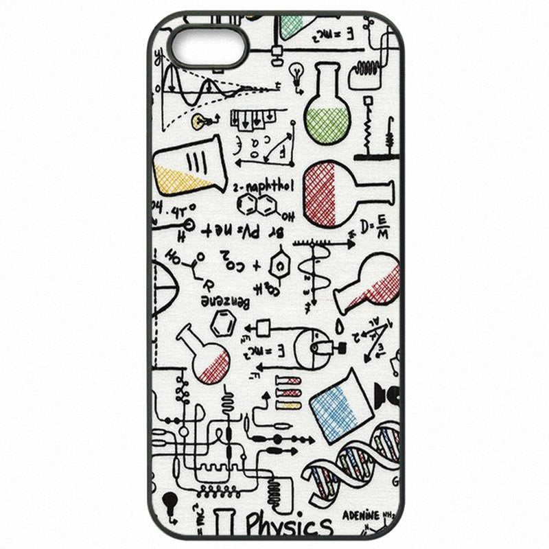 Designer Chemistry Style Art Collage Print For iPod Touch 6 4 inch Mobile Phone Coque For iPhone Case
