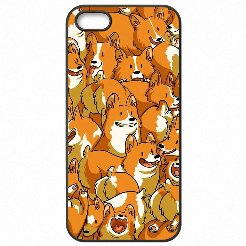 Sale For For iPod Touch 6 Corgi Welsh Corgi dog puppy Collage For iPhone Case Hard Mobile Phone Fundas