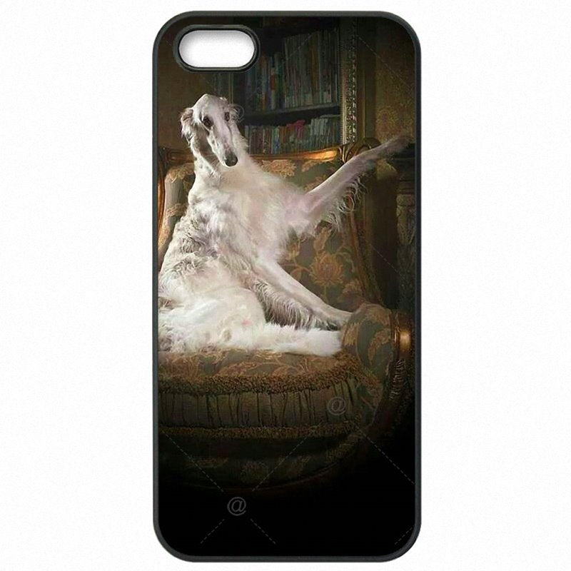 Cell Phone Cover Fundas Cute Borzoi dog puppies For Moto X Play XT1561 Femmes