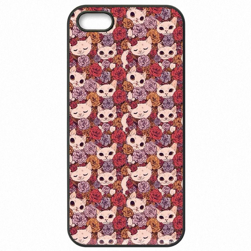 Protective Phone Bags Shell For Sony Xperia X F5122 Cute Cat Because Cats Pattern Print Collage Very Cheap