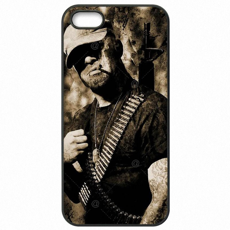 Hard Phone Covers For Sony Xperia C3 S55T Five Finger Death Punch Band Skull Poster Black Friday