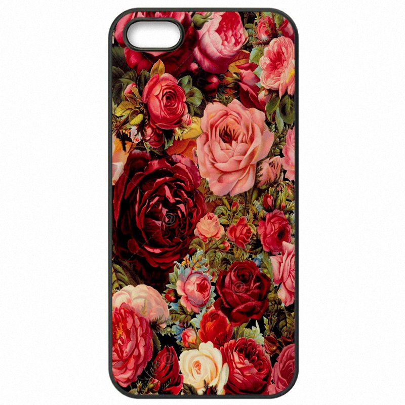 Bright Colored For LG K10 LV5 Flowers Pattern Vintage Ring Grip Peony Rose Hard Plastic Phone Cover Skin