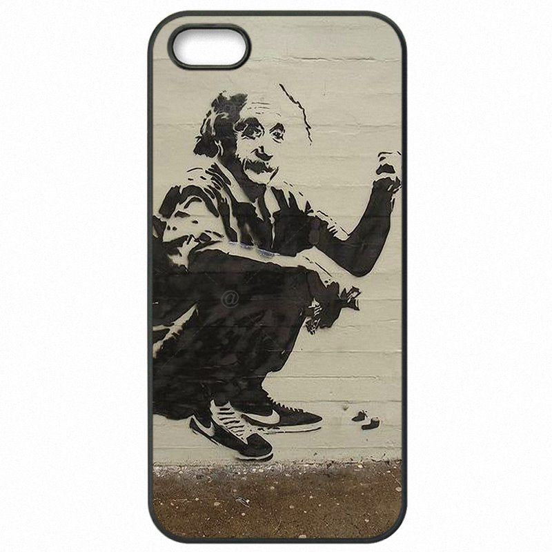 Hard Plastic Phone Skin Case For Galaxy A5 2017 A520DS Banksy Albert Einstein Love Answer Amazon