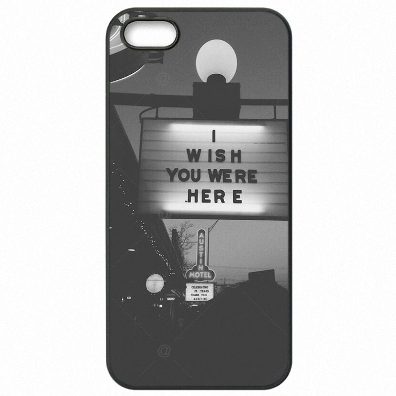 Cheapness For Galaxy S3 i9300i Wish U Were Here Quote Art Print For Samsung Case Mobile Pouch Fundas