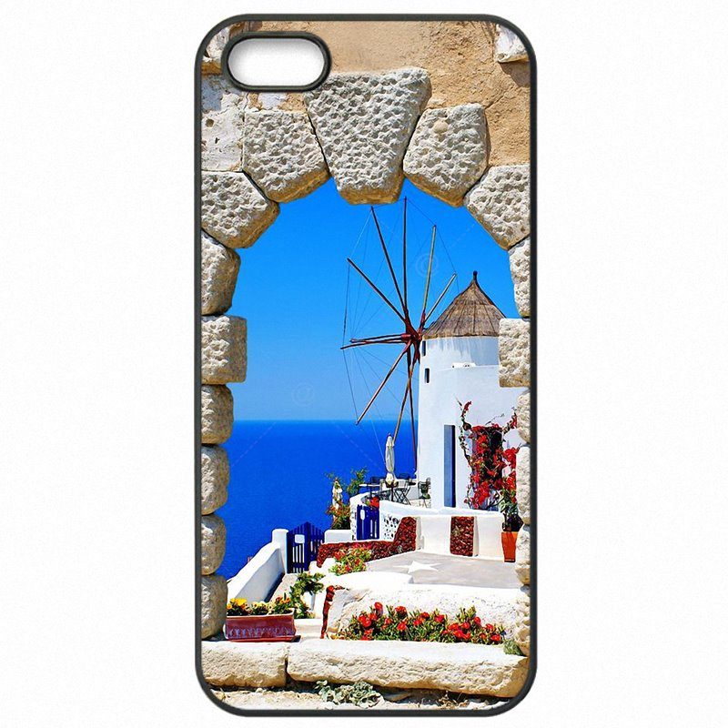 Hard Mobile Phone Shell Case Oia Santorini Sea Greece Scenery Sunset vacation spot For Moto G4 Plus XT1643 Shop