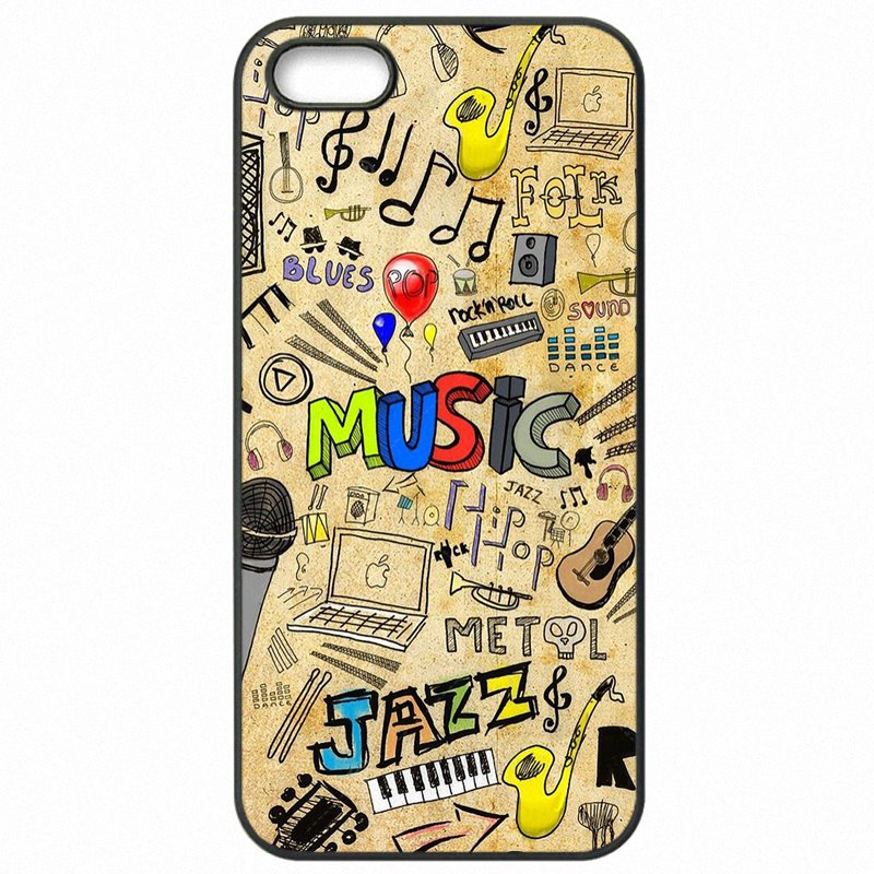 Mobile Pouch Cover Bags Musical NOTES MUSIC IS LIFE Art Poster For Moto G4 Plus XT1640 Newest