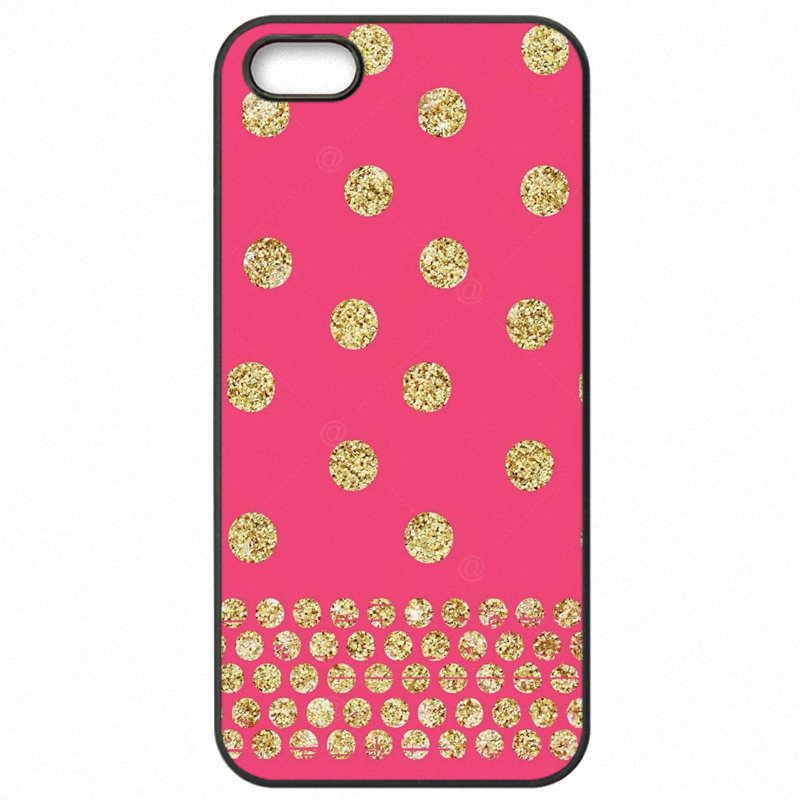 Type For OnePlus X E1001 Red Pink Yellow Gold Confetti Dots Art Pattern For One Plus Case Cell Phone Case