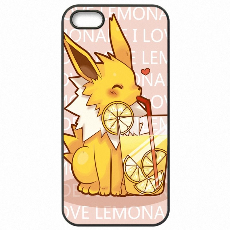 New Released Anime Pokemon Animal Jolteon Art Poster For Samsung Galaxy S7 edge Hard Phone Skin Shell For Samsung Case
