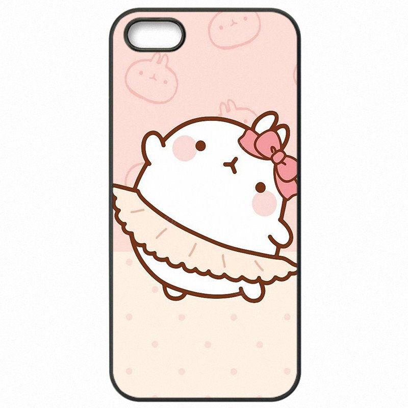 Design Korea Cartoon Potato molang Pink Animal For Galaxy S7 Edge G9350 Hard Phone Coque For Samsung Case