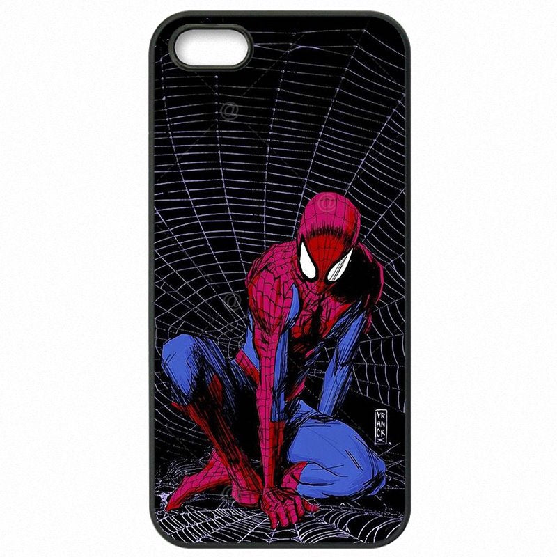 Plastic Phone Cover Shell For Sony Xperia Z5 Mini Spiderman Spider Man Marvel Avengers Hero Art Newly For Sony Case