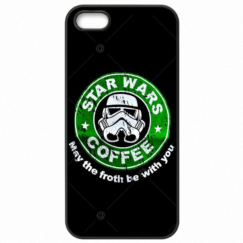 Plastic Phone Shell For iPod Touch 6 4 inch coffee series star wars logo Art For Children