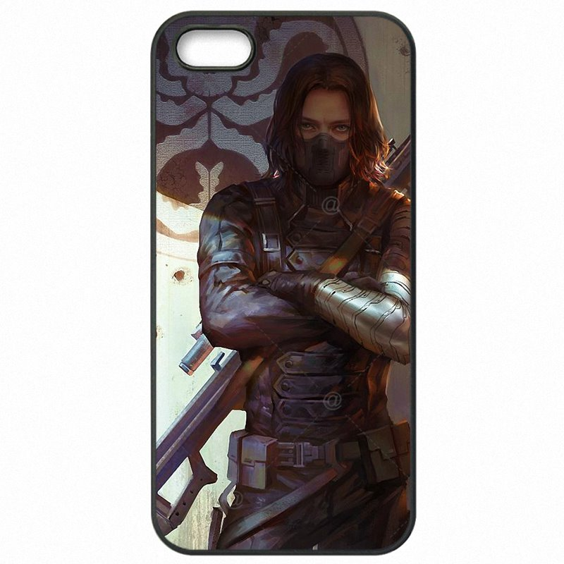 For iPhone Case Mobile Pouch Cover Shell winter soldier Captain America James Buchanan For iPod Touch 6 Soldes